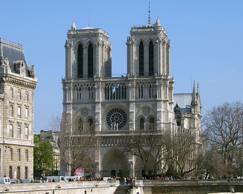 """""""NotreDameI"""" by Tom S. - The English Wikipedia (http://en.wikipedia.org/wiki/Image:NotreDameI.jpg). Licensed under Public Domain via Commons - https://commons.wikimedia.org/wiki/File:NotreDameI.jpg#/media/File:NotreDameI.jpg"""