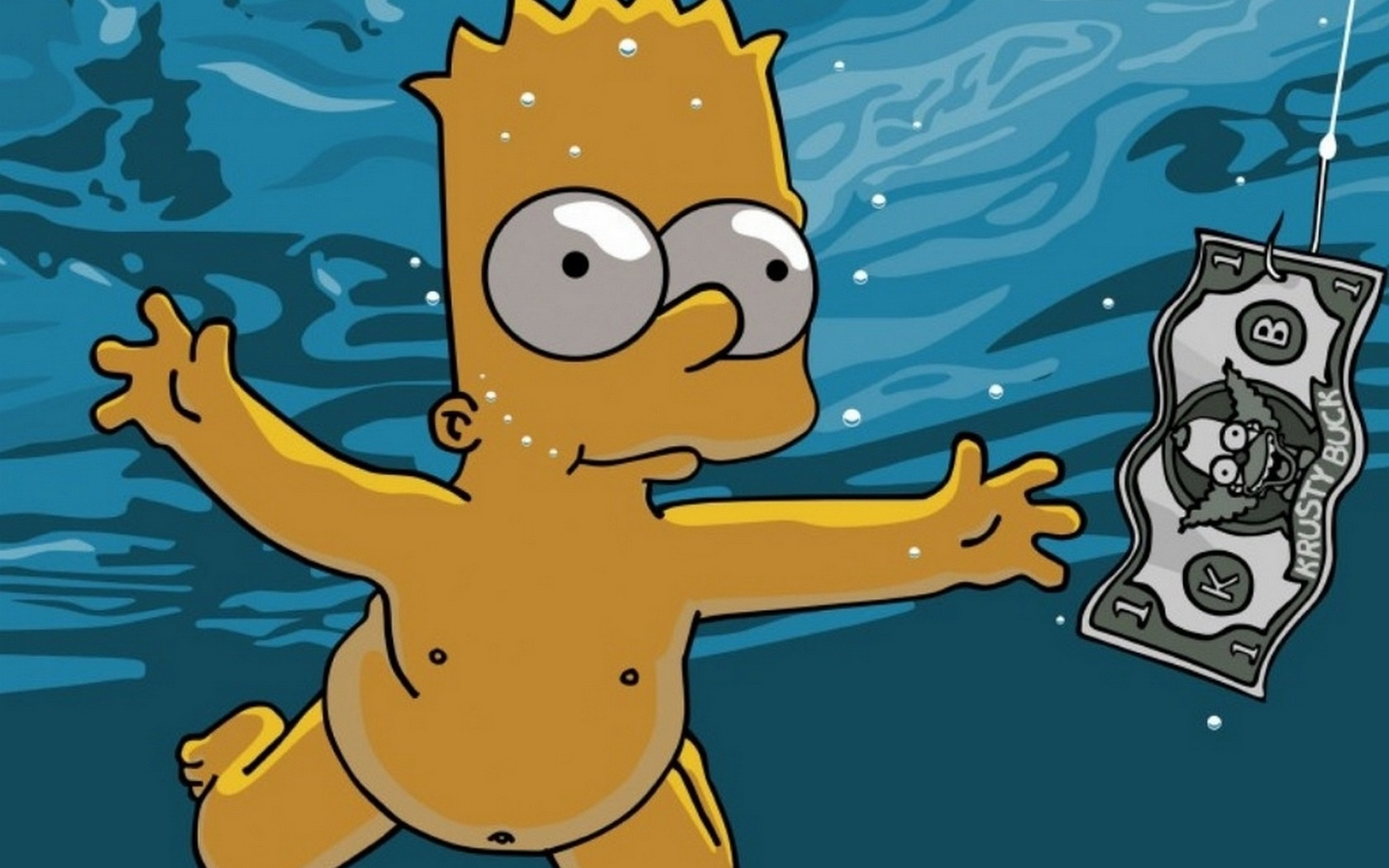 imagenes de fondo de pantalla 4 - bart simpson parodia come as you are nirvana