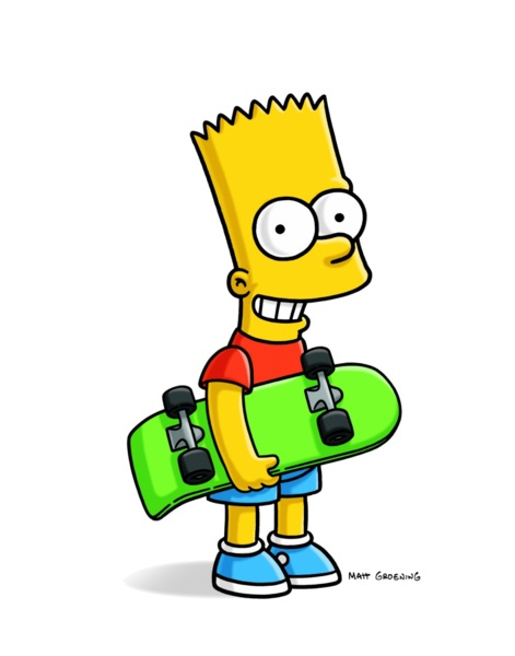 bart simpson 1 - con monopatin