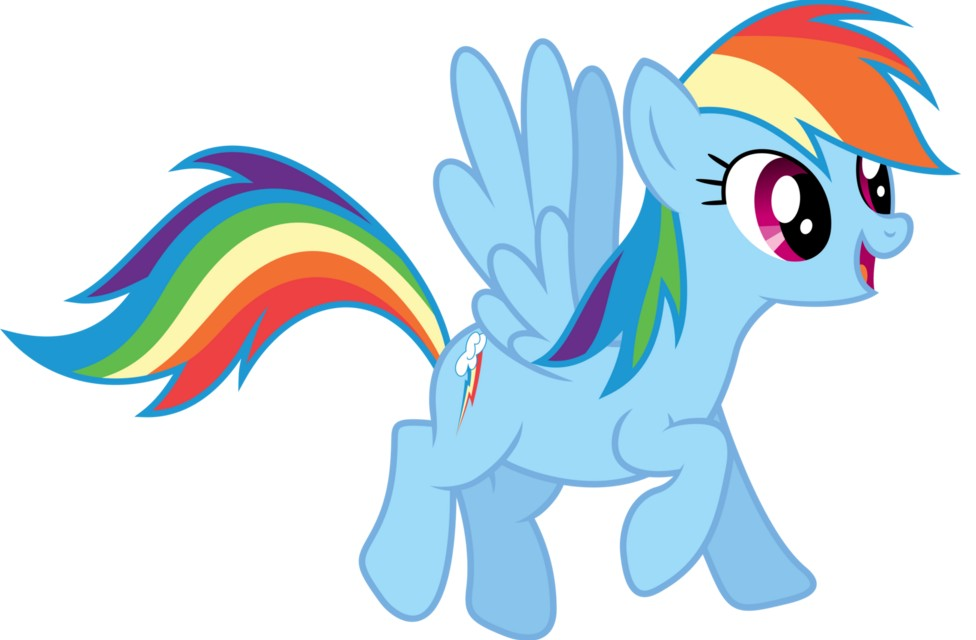 my little pony 8 - personajes rainbow dash